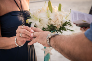 New wedding rings made this ring exchange even more meaningful.